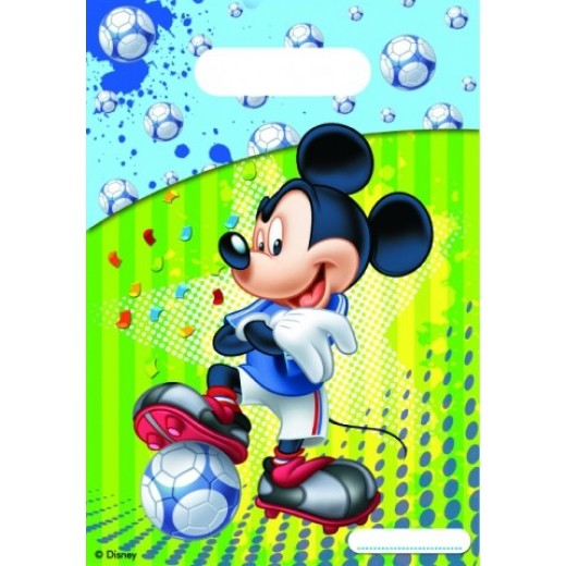 MickeyMousefodboldpartybags6stk-3