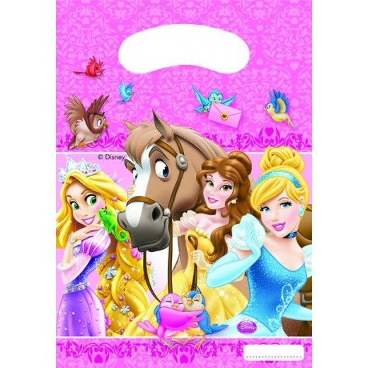 """Prinsesser and dyr """"party bags"""" 6 stk.-30"""