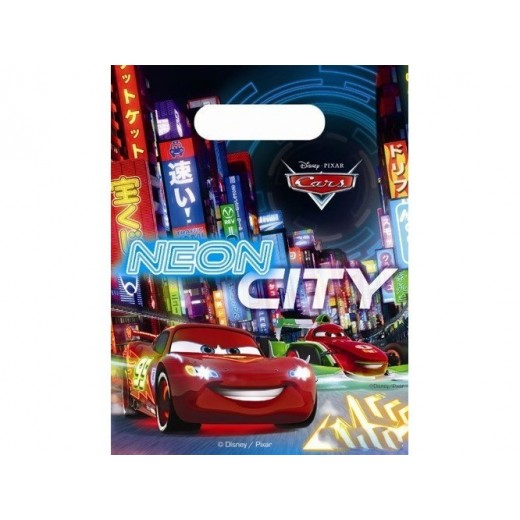 "Cars Neon ""party bags"" 6 stk-3"