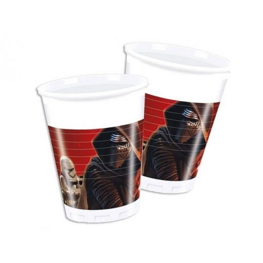 Star Wars The Force Awakens plastikkopper 200 ml 8 stk.-30