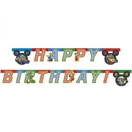 Happy Birthday die-cut banner Mickey and the Roadster Racers 230 cm 1 stk.-3