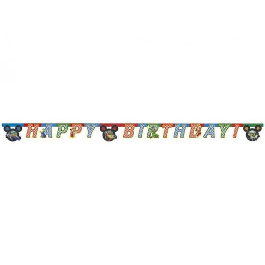 Happy Birthday die-cut banner Mickey and the Roadster Racers 230 cm 1 stk.-0