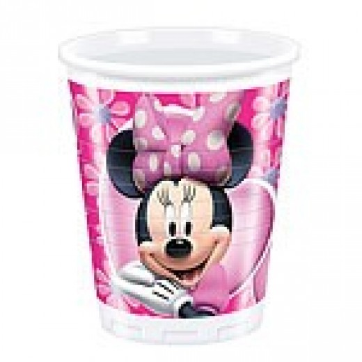 Minnie Mouse blomster plastikkopper 200 ml 8 stk.-3