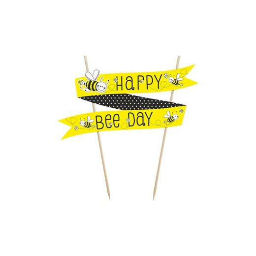 """Happy birthday"" kage banner 1 stk Happy bee day-3"