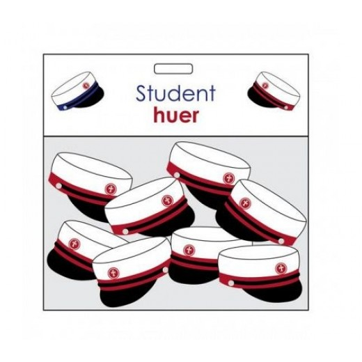 Studenter huer til borddekoration 8 stk-01