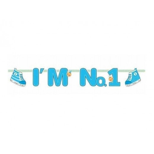 """I am no 1"" banner dreng 1,1 m lang-01"