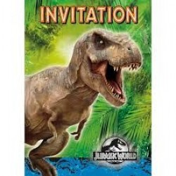 Jurassic World invitationer 6 stk-20