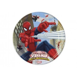 Spiderman Web Warriors paptallerkner 23 cm 8 stk.-20