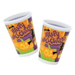 Halloween plastikkopper 200 ml 10 stk.-20