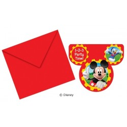 Mickey Mouse invitationer 6 stk.-20