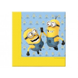 Minions high-five servietter 33x33 cm 20 stk.-20