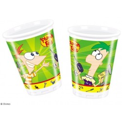 Phineas and Ferb plastikkopper 200 ml 10 stk.-20