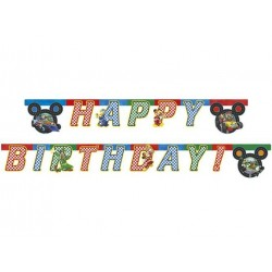 Happy Birthday die-cut banner Mickey and the Roadster Racers 230 cm 1 stk.-20