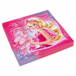 Barbie Pink Shoes servietter 33x33 cm 20 stk.-20