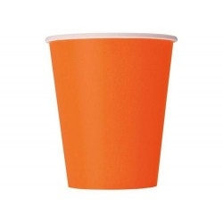 Halloween plastikkopper orange 266 ml 8 stk.-20