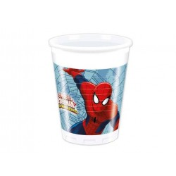 "Spiderman ""Web warriors"" plastikkopper 200 ml-8 stk.-20"