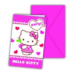 Hello Kitty invitationer 6 stk.-20