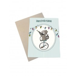 Fest invitationer 6 stk Mouse and Pen-20