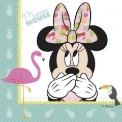 Minnie Mouse  tropical servietter 33x33 cm - 20 stk.